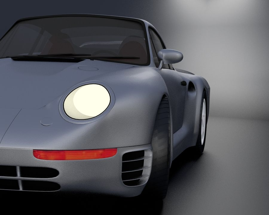 Porsche 959 royalty-free 3d model - Preview no. 14
