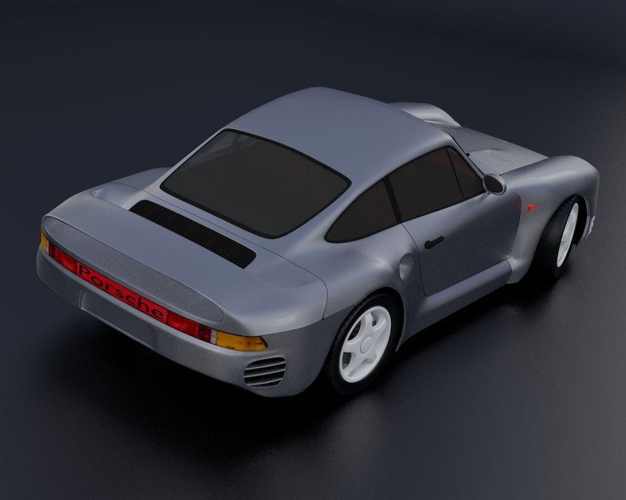 Porsche 959 royalty-free 3d model - Preview no. 9