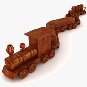 Zestaw drewniany pociąg 3d model