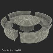 Садовая мебель 2 3d model