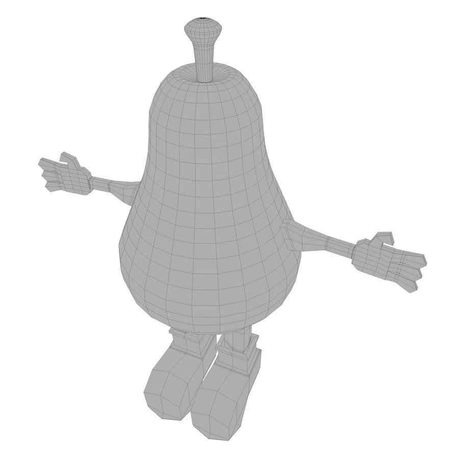 緑色の洋ナシの漫画のキャラクター royalty-free 3d model - Preview no. 20