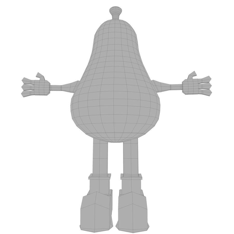 緑色の洋ナシの漫画のキャラクター royalty-free 3d model - Preview no. 14