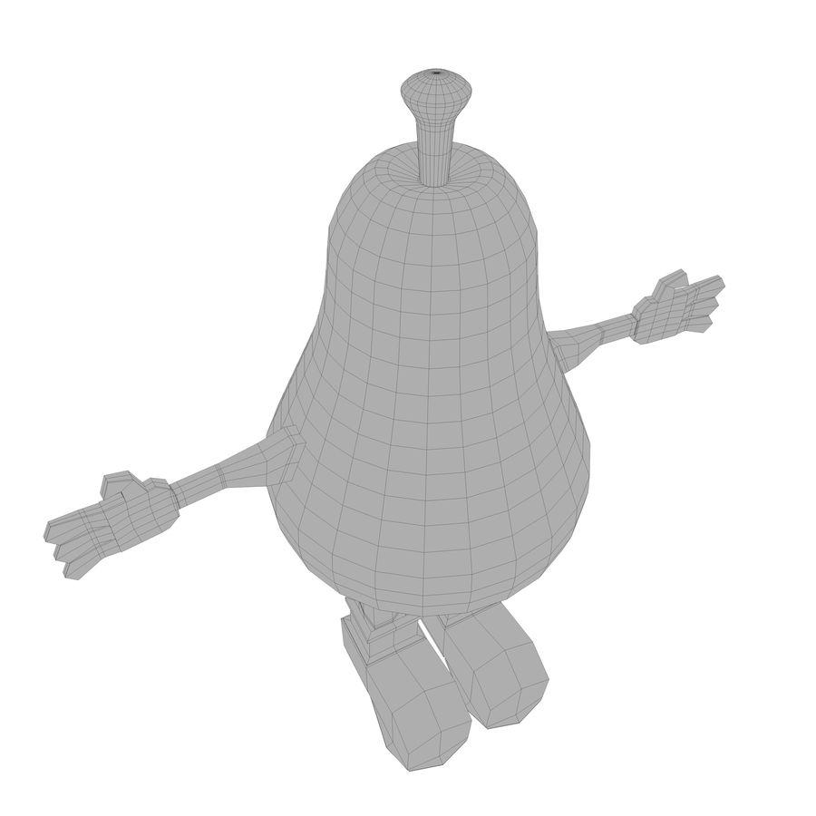 緑色の洋ナシの漫画のキャラクター royalty-free 3d model - Preview no. 22