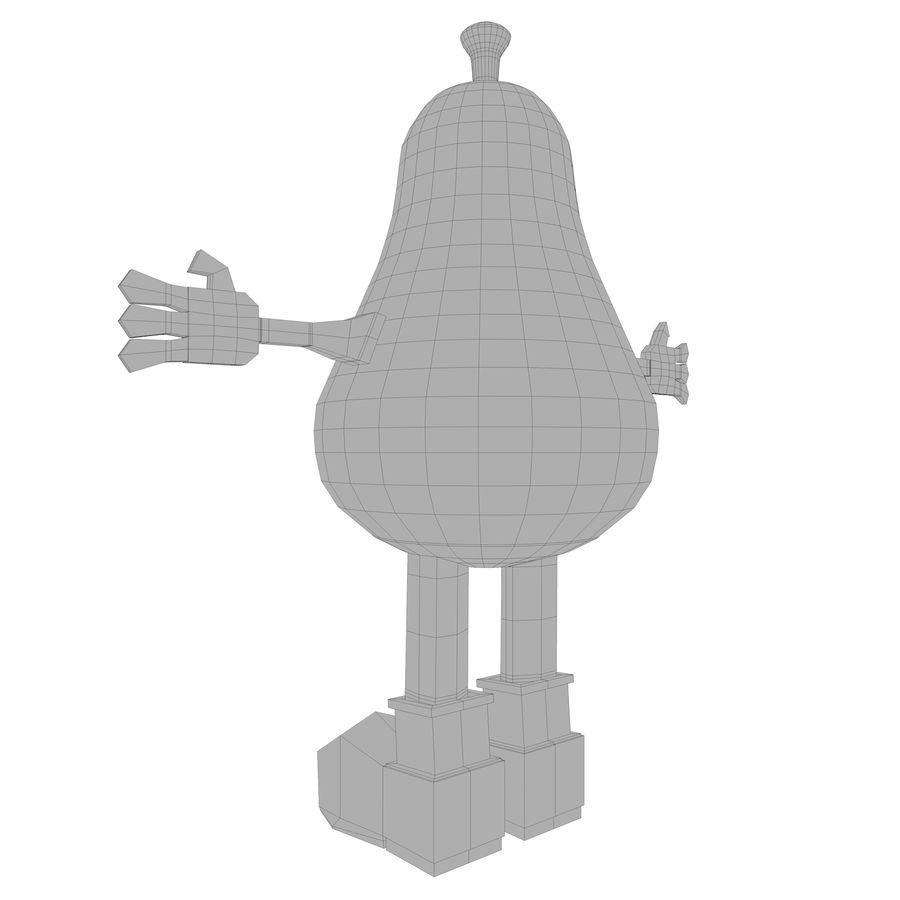 緑色の洋ナシの漫画のキャラクター royalty-free 3d model - Preview no. 19