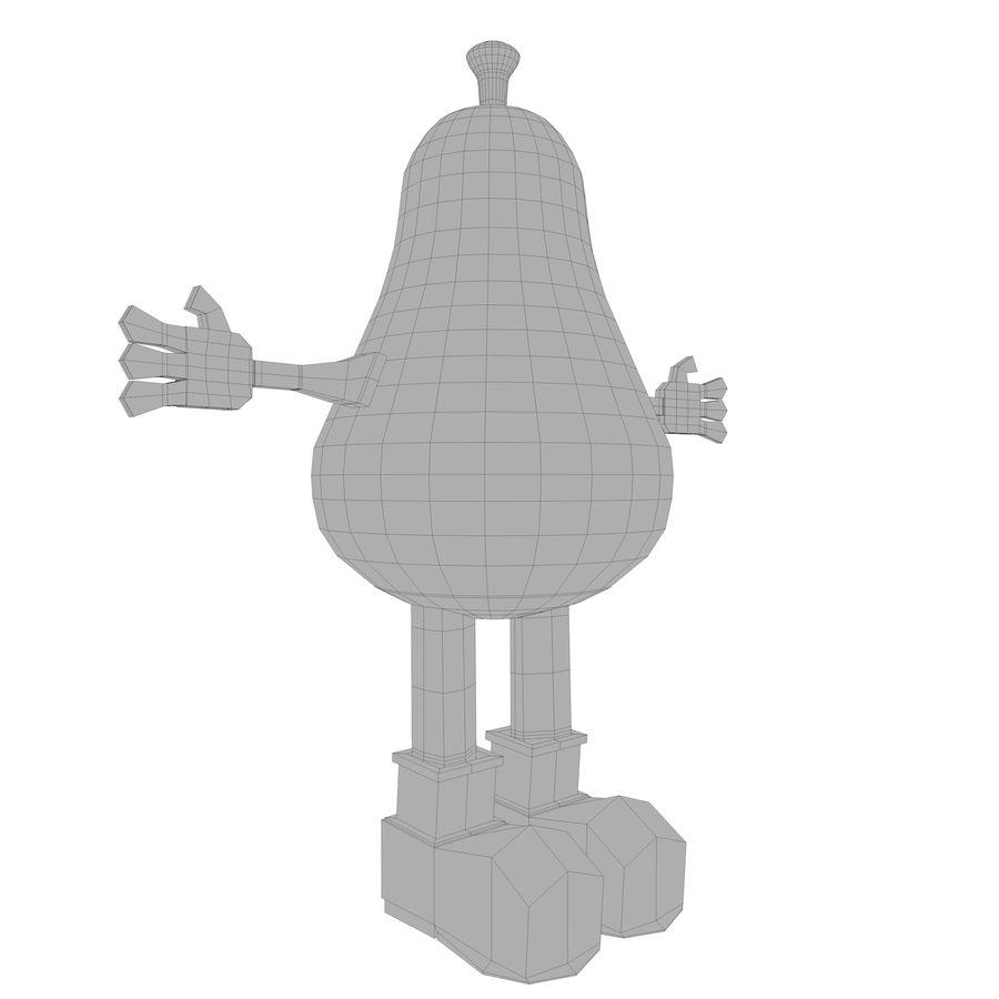 緑色の洋ナシの漫画のキャラクター royalty-free 3d model - Preview no. 16