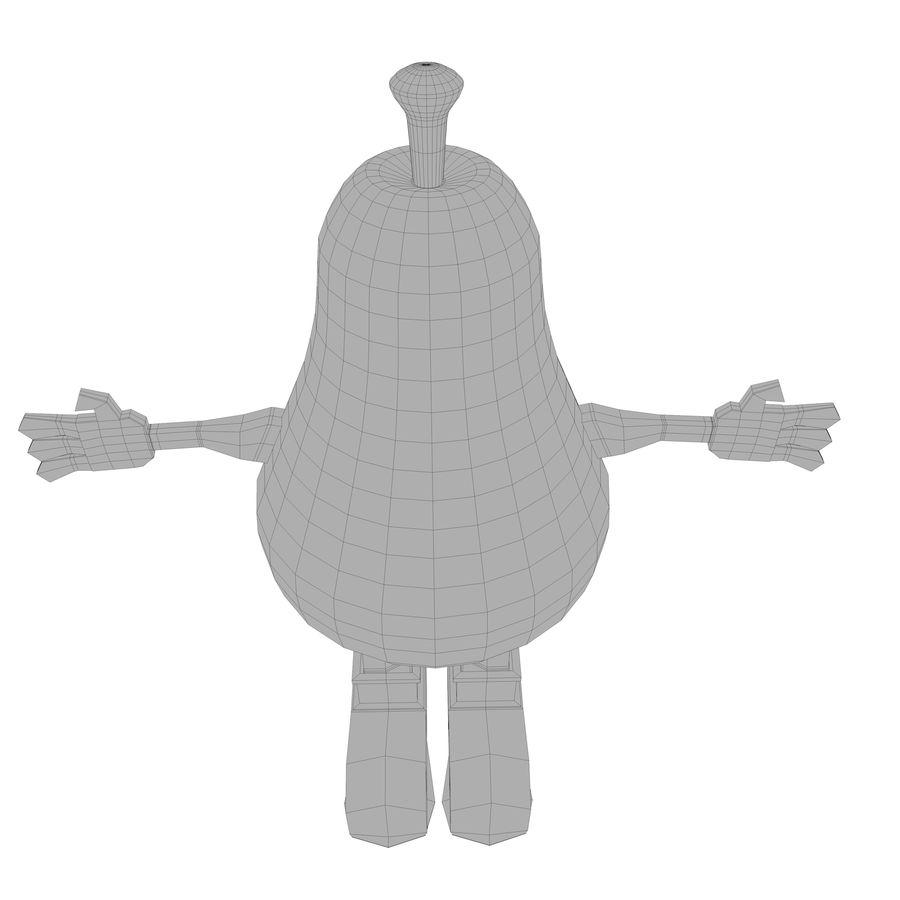 緑色の洋ナシの漫画のキャラクター royalty-free 3d model - Preview no. 21