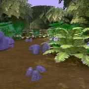 현실적인 숲 1 3d model