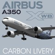 空中客车A350 XWB碳纤风 3d model