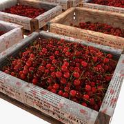 Cherry Fruit Crates Case Market Store Negozio Convenienza Generi alimentari Fruttivendolo Dettaglio Prop Fiera Piantagione Giungla Pianta sud Giardino Serra (2) 3d model