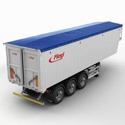 Trailer grain-carrier 3d model