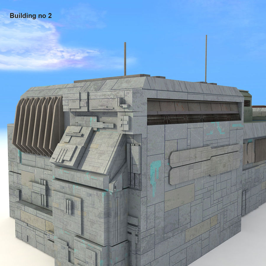 Sci-Fi City Buildings Futuristic royalty-free 3d model - Preview no. 15