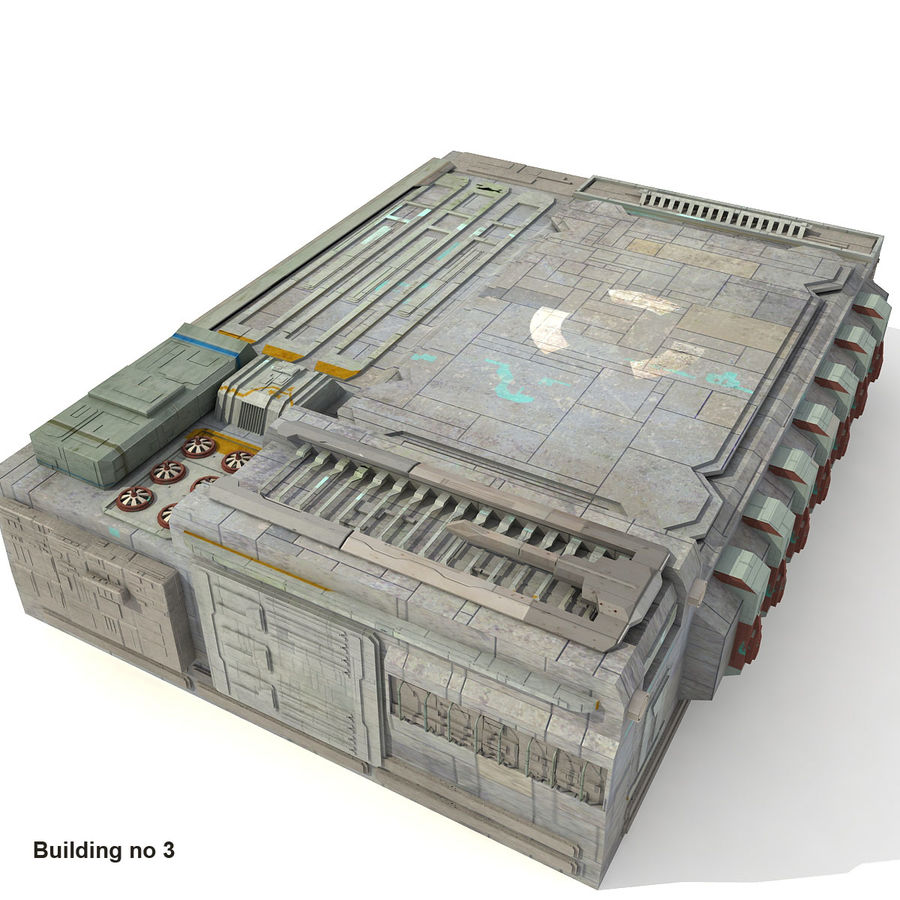 Sci-Fi City Buildings Futuristic royalty-free 3d model - Preview no. 17