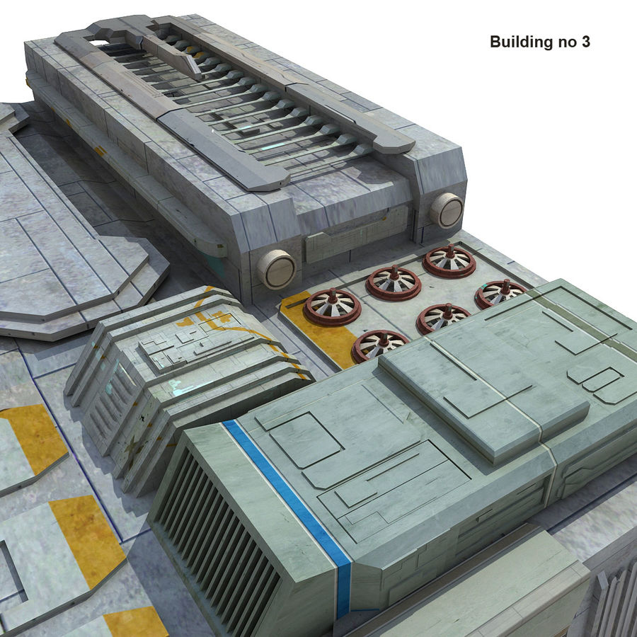 Sci-Fi City Buildings Futuristic royalty-free 3d model - Preview no. 20