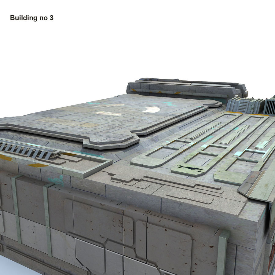 Sci-Fi City Buildings Futuristic royalty-free 3d model - Preview no. 19