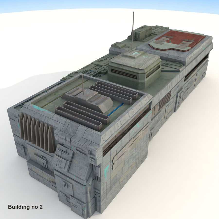 Sci-Fi City Buildings Futuristic royalty-free 3d model - Preview no. 11