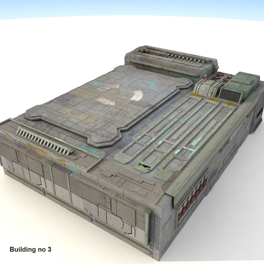 Sci-Fi City Buildings Futuristic royalty-free 3d model - Preview no. 16