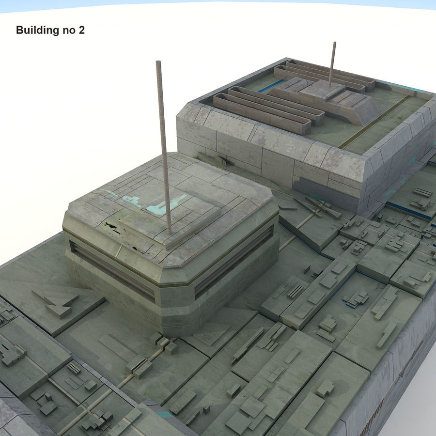 Sci-Fi City Buildings Futuristic royalty-free 3d model - Preview no. 13