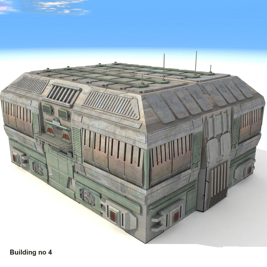 Sci-Fi City Buildings Futuristic royalty-free 3d model - Preview no. 22
