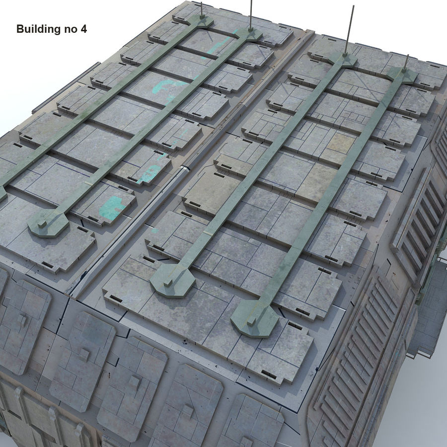 Sci-Fi City Buildings Futuristic royalty-free 3d model - Preview no. 26