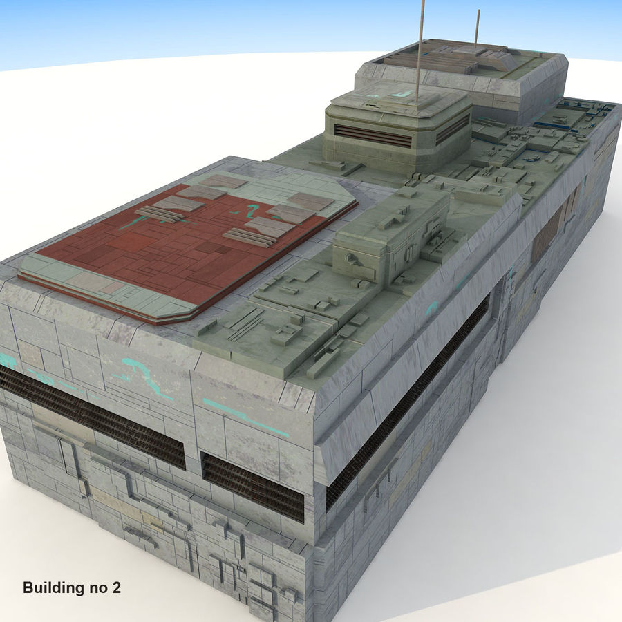 Sci-Fi City Buildings Futuristic royalty-free 3d model - Preview no. 12