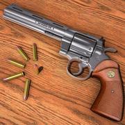 Revólver Colt Python 3d model