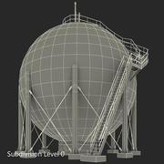 Резервуар для хранения газа в Японии 3d model