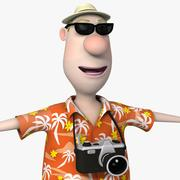 Cartoon Man 09 Tourist Guy 3d model