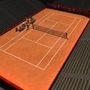 Kort tenisowy V3 3d model