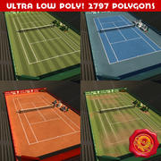 Tennis Court Pack 3d model