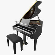Piano de cauda digital 3d model