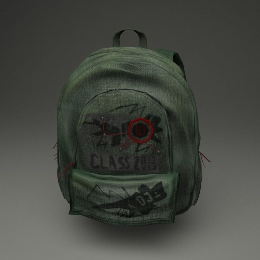 Casual Backpack royalty-free 3d model - Preview no. 7