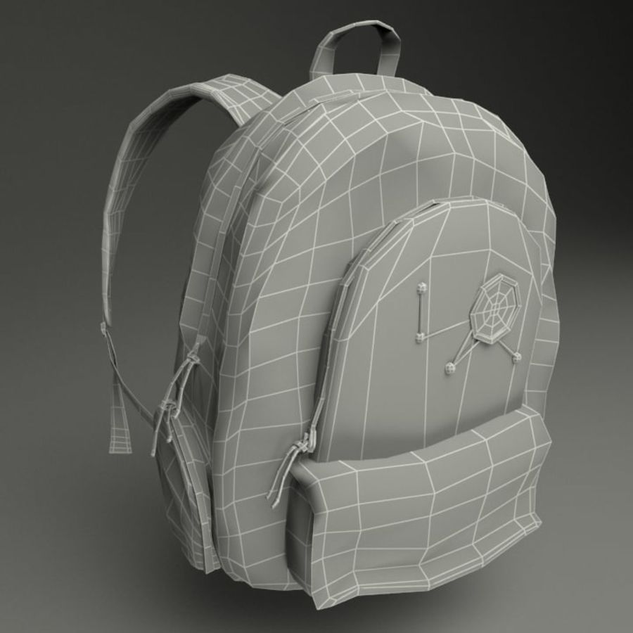 Casual Backpack royalty-free 3d model - Preview no. 4