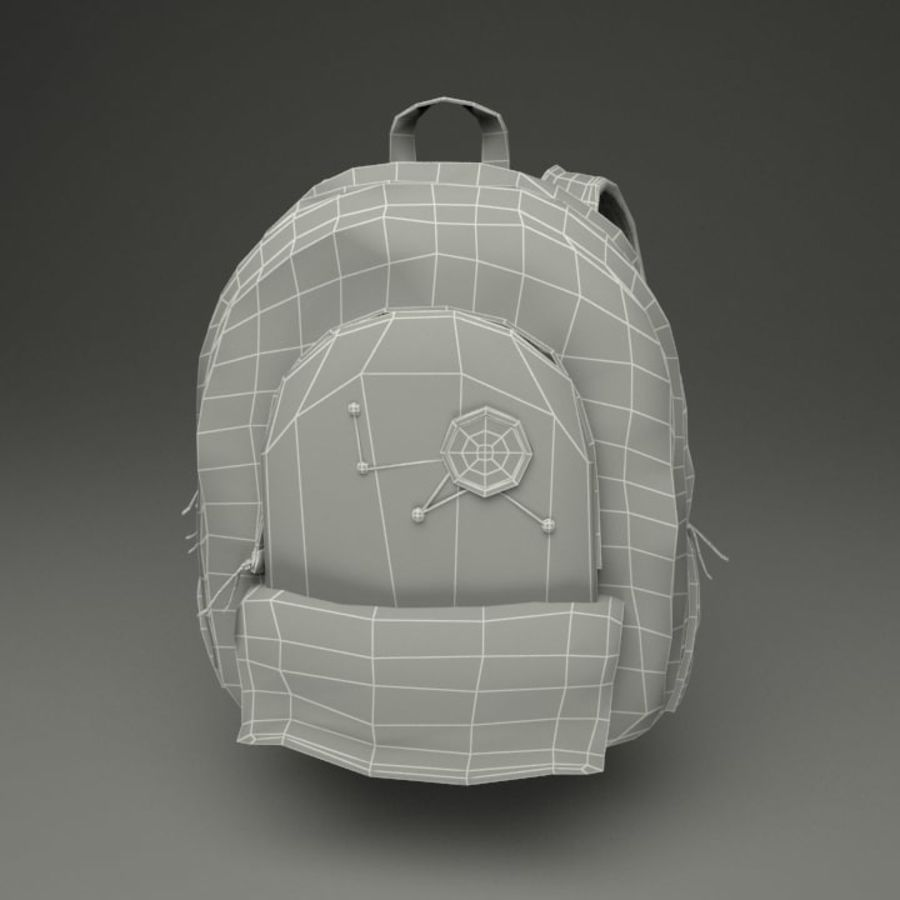 Casual Backpack royalty-free 3d model - Preview no. 2