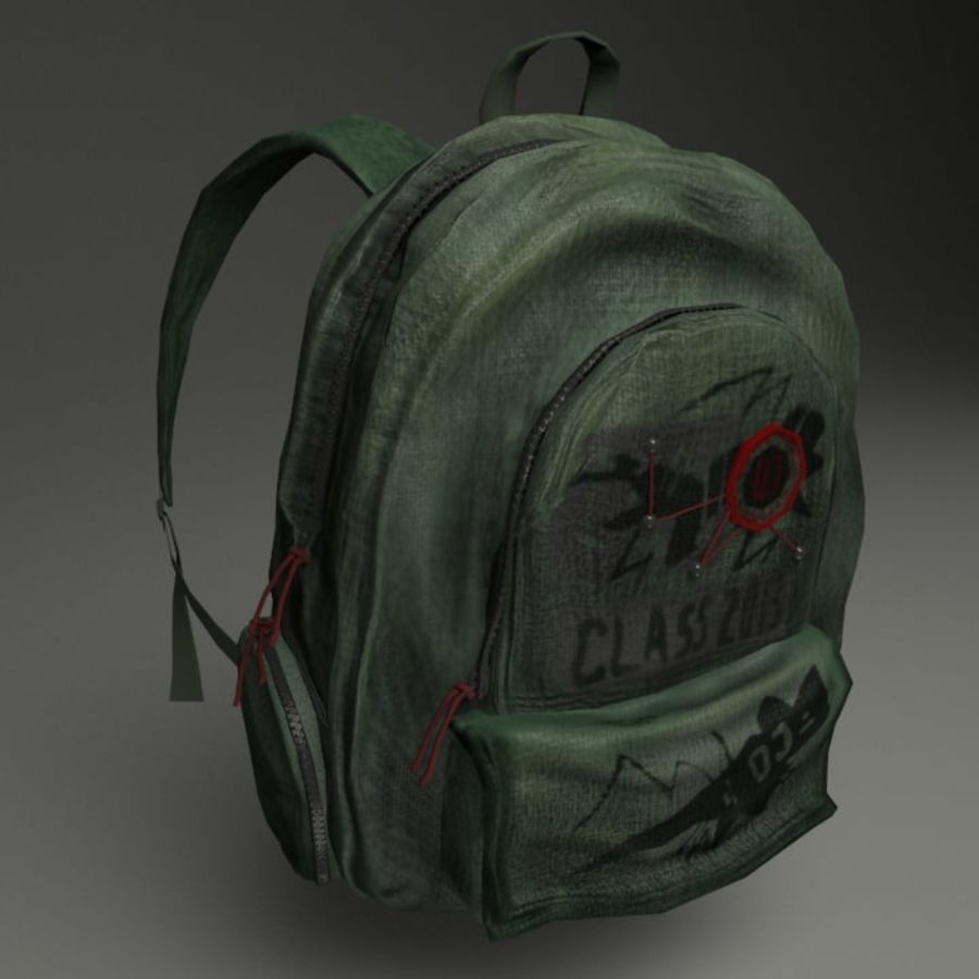 Casual Backpack royalty-free 3d model - Preview no. 9