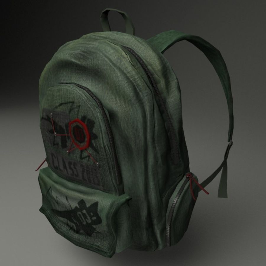 Casual Backpack royalty-free 3d model - Preview no. 11