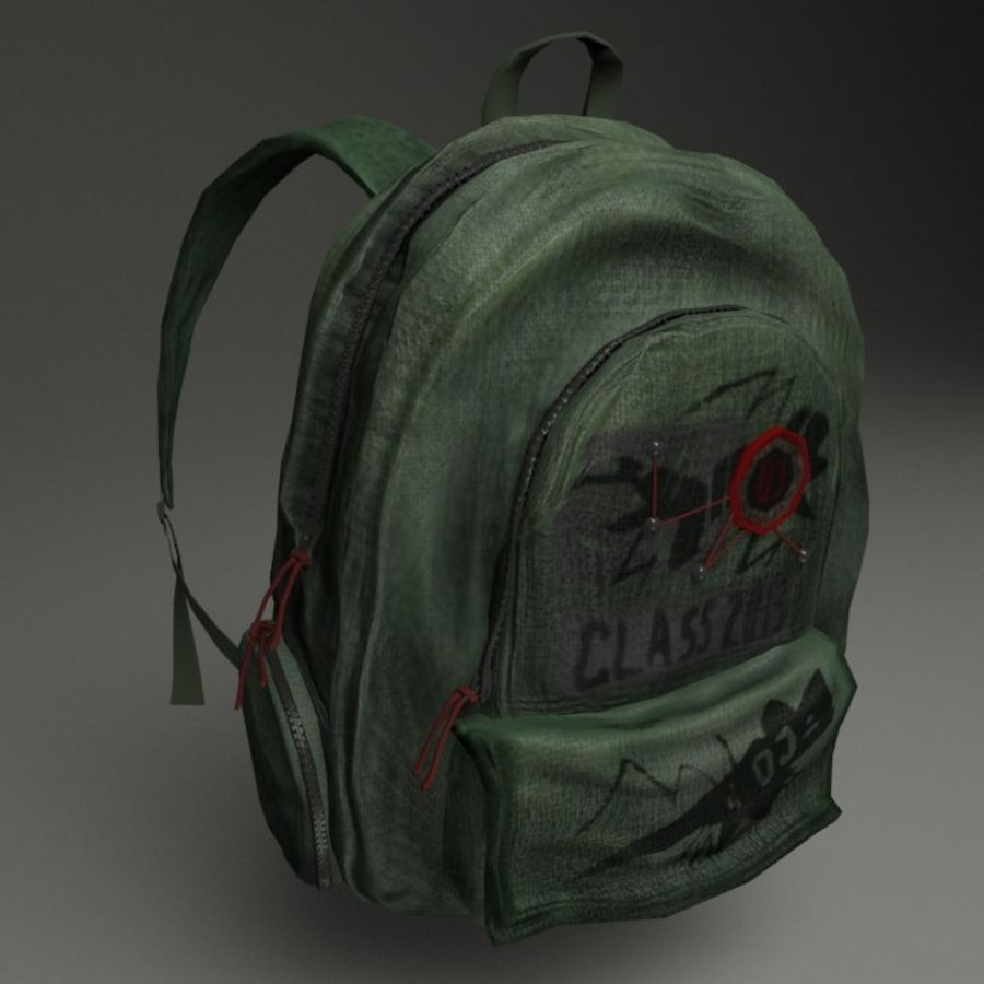 Casual Backpack royalty-free 3d model - Preview no. 3