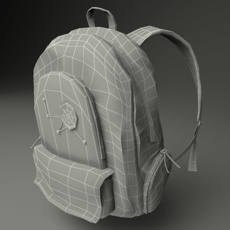 Casual Backpack royalty-free 3d model - Preview no. 12