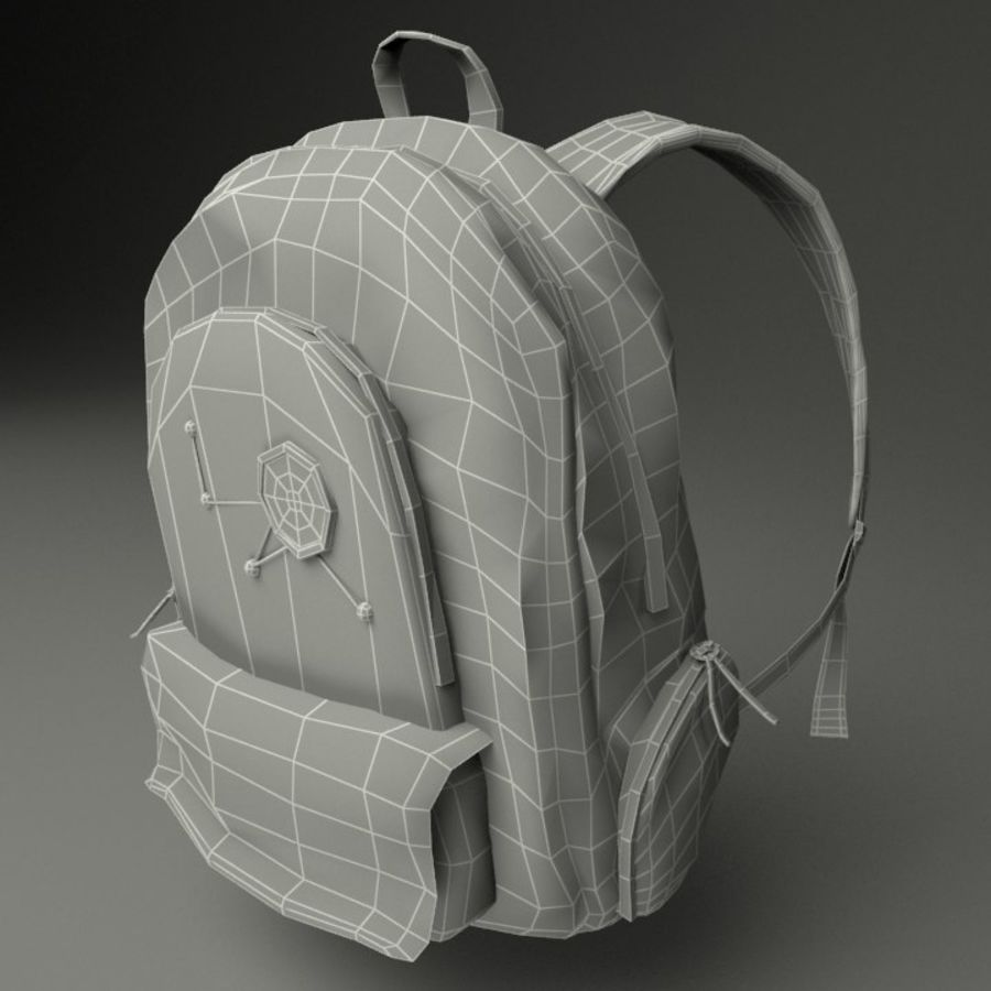 Casual Backpack royalty-free 3d model - Preview no. 6
