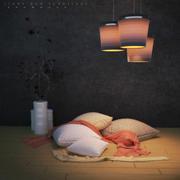 Лампа и мебель 3d model
