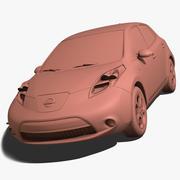 닛산 잎 3d model