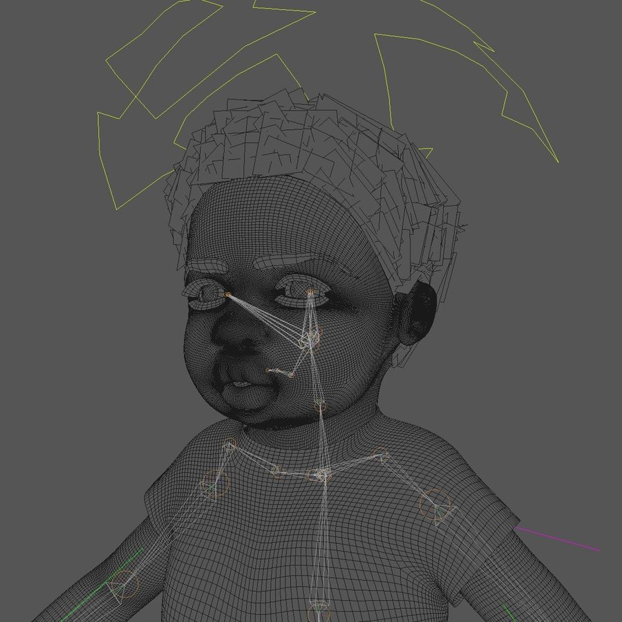 Baby Boy royalty-free 3d model - Preview no. 4