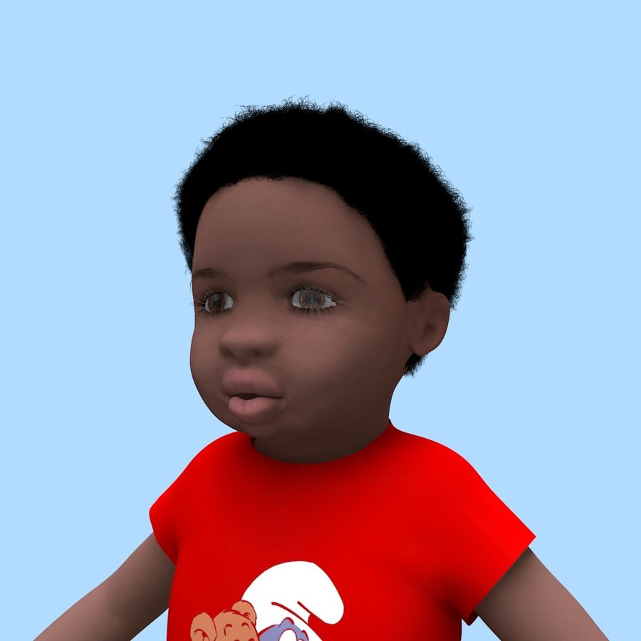 Baby Boy royalty-free 3d model - Preview no. 5