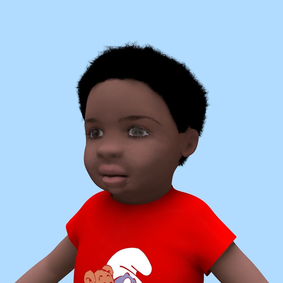 Baby Boy royalty-free 3d model - Preview no. 13