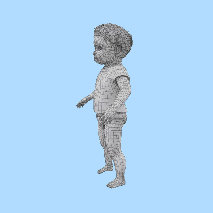 Baby Boy royalty-free 3d model - Preview no. 16