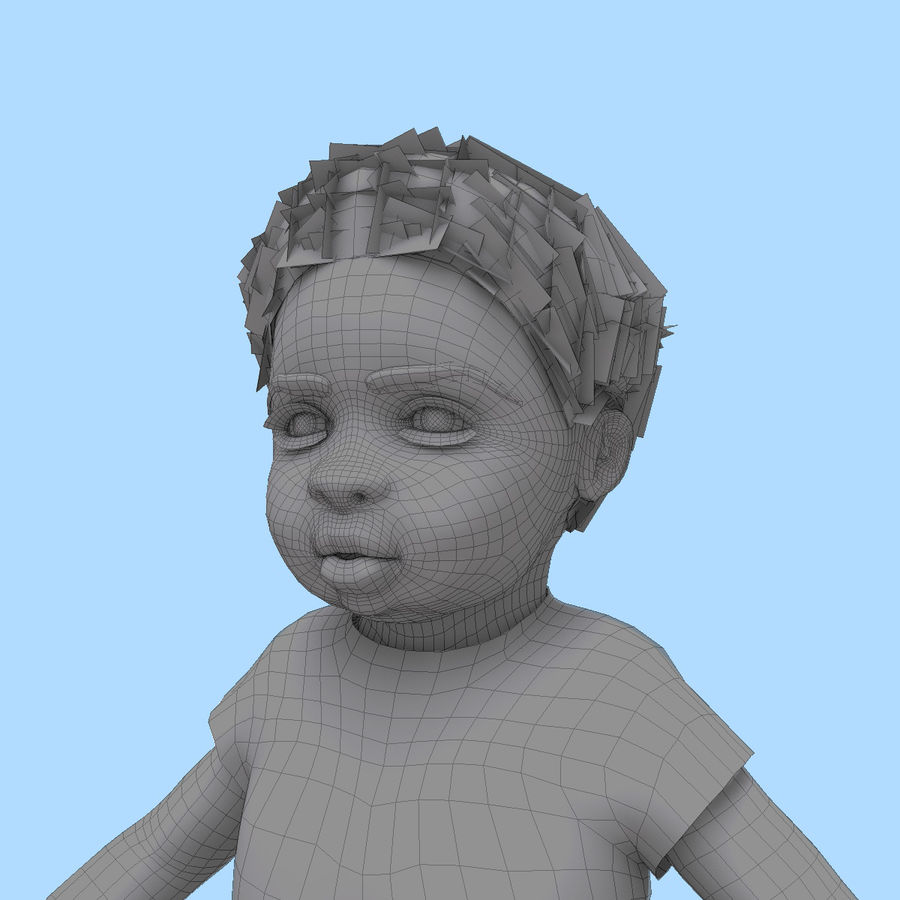 Baby Boy royalty-free 3d model - Preview no. 15
