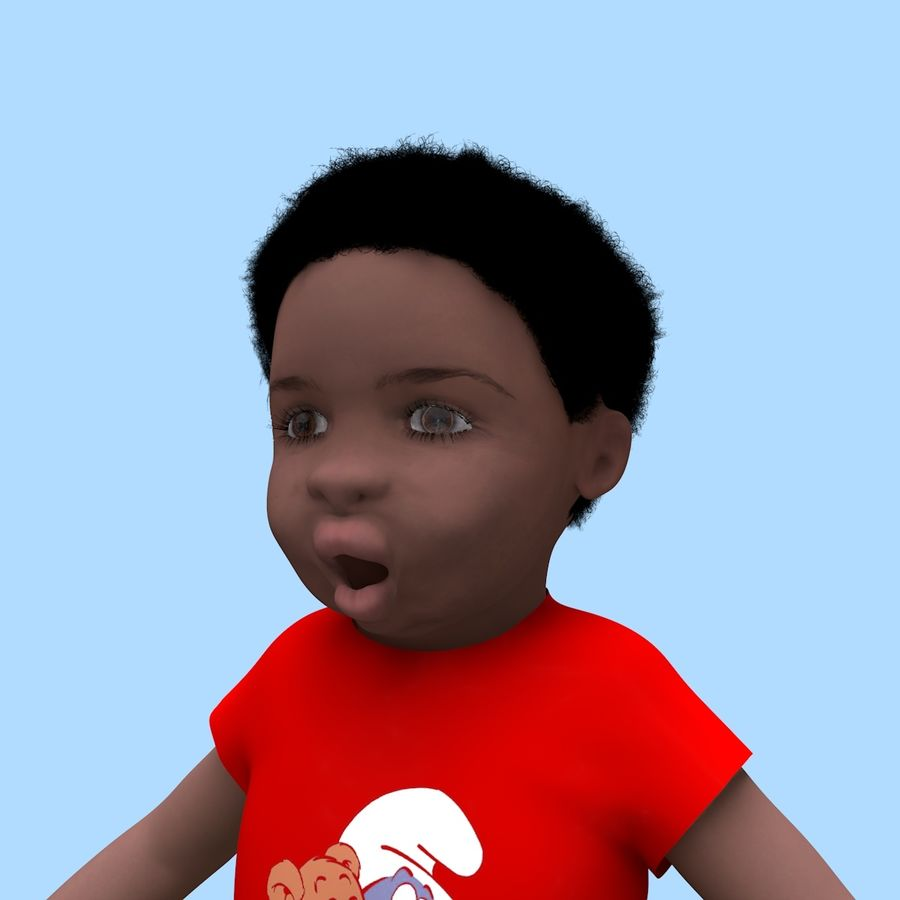 Baby Boy royalty-free 3d model - Preview no. 8