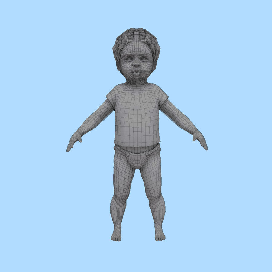 Baby Boy royalty-free 3d model - Preview no. 17