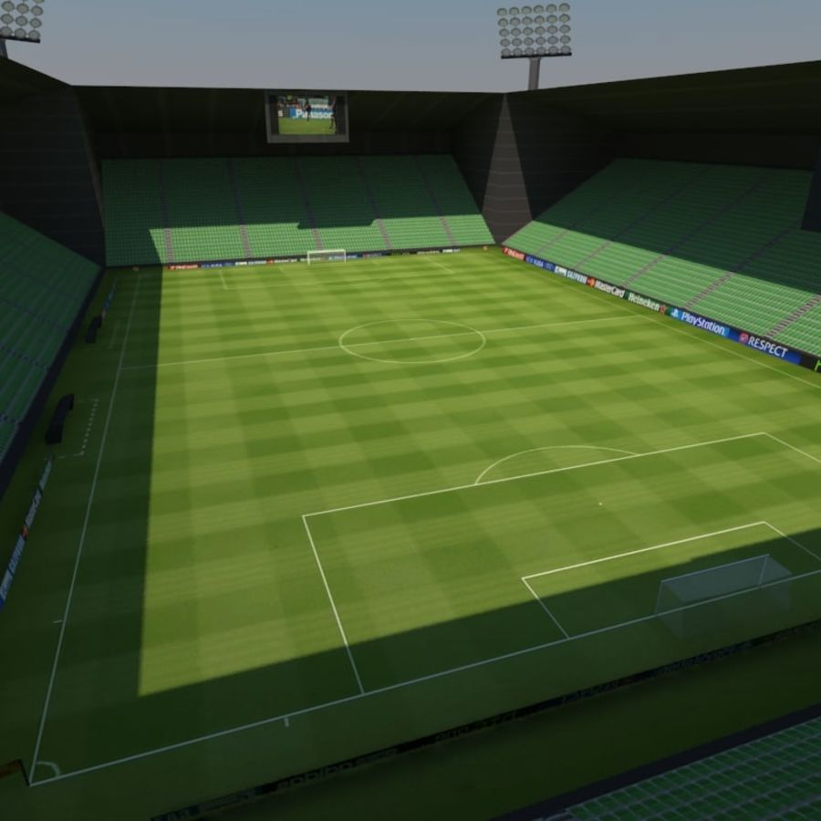 Soccer Stadiums Pack royalty-free 3d model - Preview no. 5