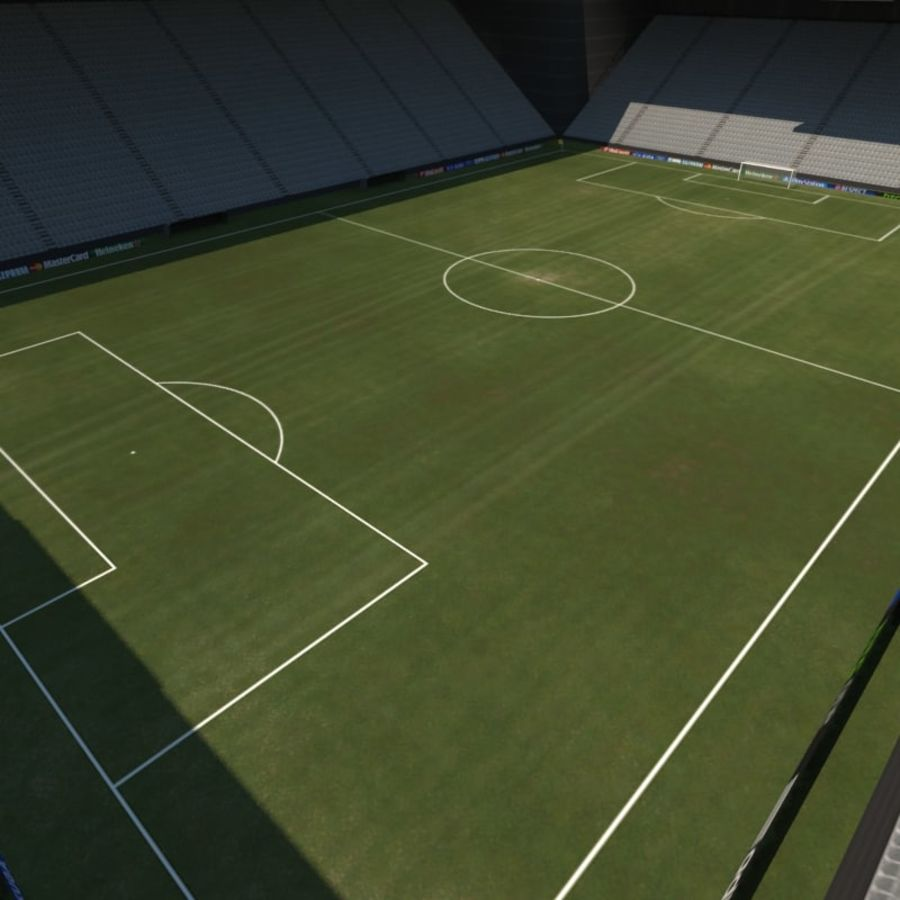 Soccer Stadiums Pack royalty-free 3d model - Preview no. 9