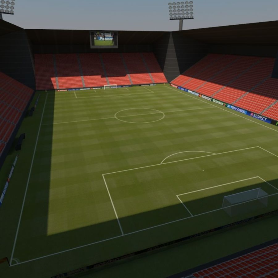 Soccer Stadiums Pack royalty-free 3d model - Preview no. 6